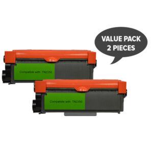 2 x TN-2350 Premium Generic Toner Cartridge
