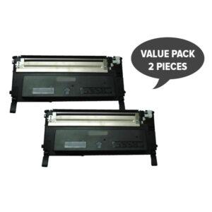 2 x 1230 1235 Black Premium Generic Toner