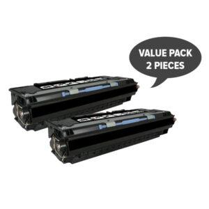 2 x Q2670A #308A Black Premium Generic Toner