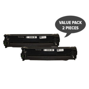 2 x CE320 #128A Black Premium Generic Toner