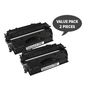 2 x CE505A #05A Cart 319i Black Premium Generic Toner