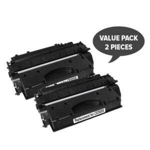 2 x CE505X HP #05X Cart 319ii Black Premium Generic Toner