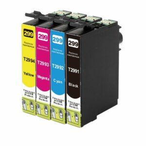 29XL Compatible Inkjet Cartridge Set  4 Ink Cartridges {Boxed Set]