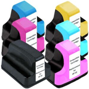 02XL Compatible Inkjet Cartridge Set  6 Ink Cartridges