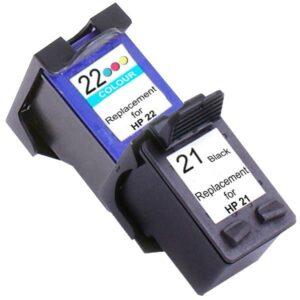 21XL Remanufactured Inkjet Cartridge Set #1  2 Ink Cartridges