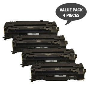 CE255A #55A Black Compatible Laser Toner x 4