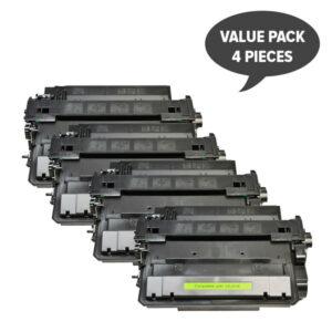 CE255X #55X Black Compatible Laser Toner x 4