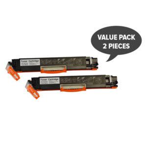 2 x CE310A #126A Cart329 Black Premium Generic Toner