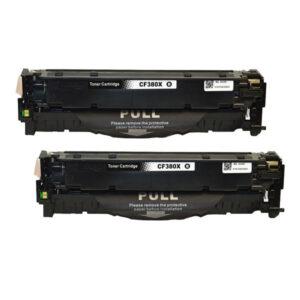 CF380X #312X  Premium Generic Remanufactured Black Toner x 2