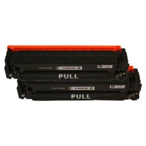 CF400X #201X Premium Generic Black Toner Cartridge x 2