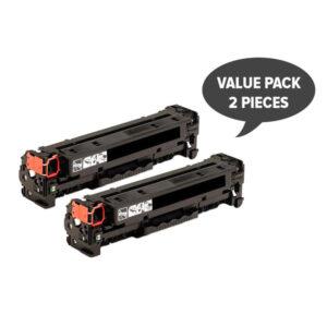 2 x CC530A #304A CART-318BK CART-418BK Black Premium Generic Toner