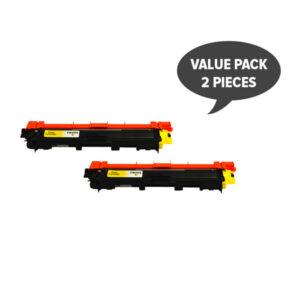 TN-255 Yellow Premium Generic Toner (Set of 2)