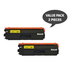 TN-348 Yellow Super High Yield Generic Toner (Set of 2)