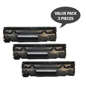 CE285A #85A Cart325 Black Generic Toner  (Set of 3)