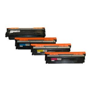 CE270B #650A Series Cart 322 Premium Generic Toner Set
