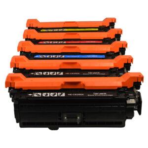 CE250X #504 Series Premium Generic Toner Set PLUS Extra Black