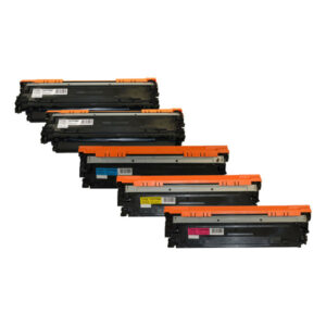 CE270B #650A Series Cart 322 Premium Generic Toner Set PLUS Extra Black