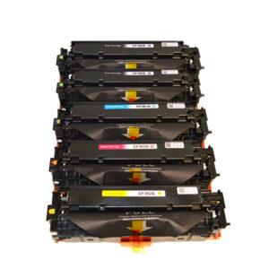 CF380X #312X Series Premium Generic Remanufactured Laser Toner Cartridge PLUS extra Black Set (5 cartridges)