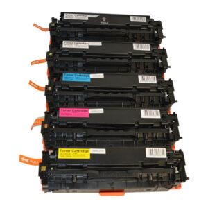 CE410X #305X Series Premium Generic Laser Toner Cartridge PLUS Extra Black Set (5 cartridges)