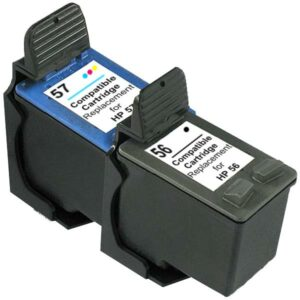 56 Remanufactured Inkjet Cartridge Set #1  2 Cartridges
