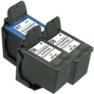 56 Remanufactured Inkjet Cartridge Set #2  3 Cartridges